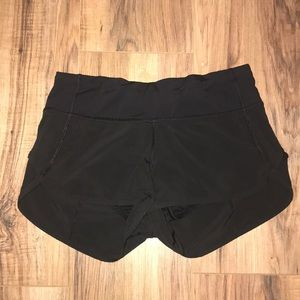 Black Lululemon speed shorts!